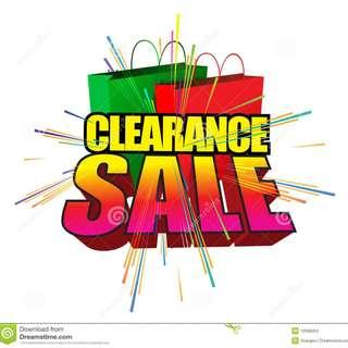 CLEARANCE SALES ALL AT VERY CHEAP PRICE -RM5.00