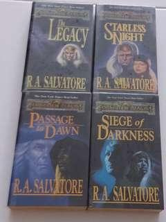 🚚 Fantasy adventure books by RA Salvatore