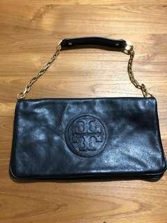 Tory Burch Genuine Leather Clutch with Straps