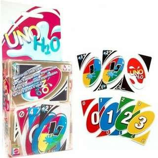NEW UNO H2O Waterproof Clear Cards