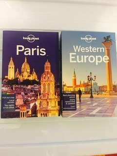 Lonely Planet Guides - Paris & Western Europe