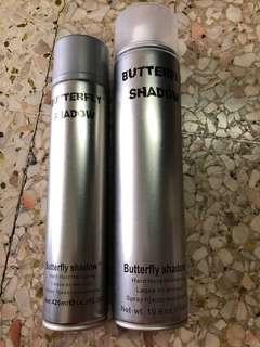 Butterfly shadow hair spray