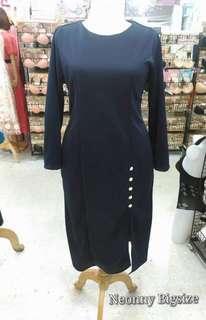 Plus size Navy Maxi Dress