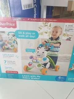 Fisher Price Baby Walker Learn with Me Zebra