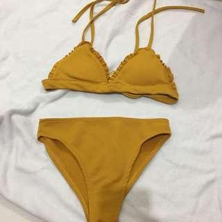 Mustard Bikini Set