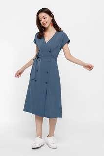 🚚 LB Ottelia Wrap Button-up Dress Size L
