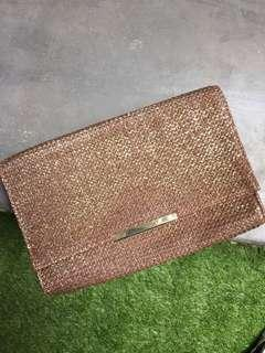 H&M - clutch bronze