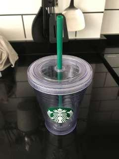 🚚 Starbucks Reusable Cup with Straw