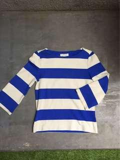 Forever 21 - blue and white stripes off shoulder