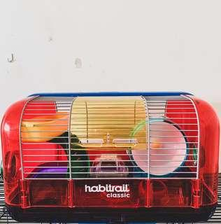 Habitrail Classic - Hamster Cage (Red/Purple)