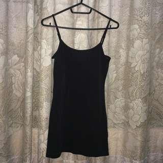 h&m black adjustable sleeveless top
