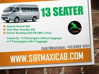 13 Seater Coach Grab now
