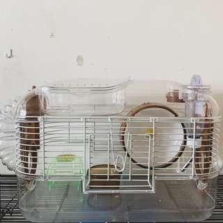 Hamster Cage (White/Brown)