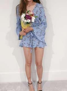 Floral print minidress  - cotton on (sky blue)
