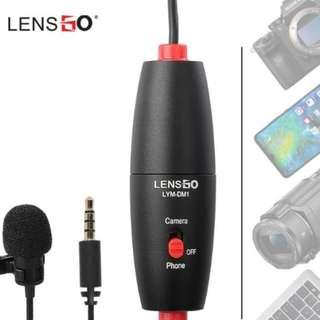 Lensgo LYM-DM1 6meter Lavalier Microphone for Smartphone and Canon/Nikon Camera/PC/Camcorder/Amplifier
