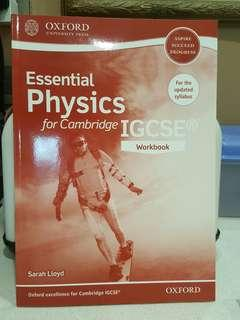 IGCSE Physics Essential Workbook BRAND NEW