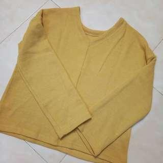 GARAGE Yellow Knitted Top