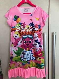 Baby shark girl pyjamas dress size M