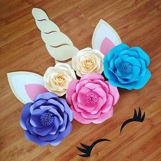 Unicorn Paper Flower Decoration