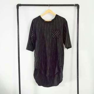 Stripe black top/dress