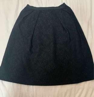 ZARA Black Lace Skirt (Size Medium)
