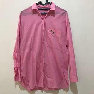 Zara Trafaluc oversized shirt kemeja