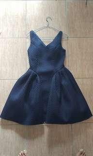Dress Wanita Biru Dongker