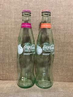[全新] 美國可口可樂 Coca Cola Raspberry & Peach 玻璃瓶(空瓶原蓋)