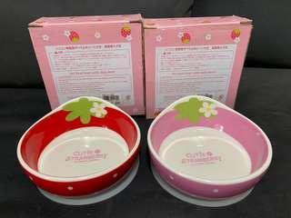 全新 寵物 貓狗 瓷器 食物碗 水兜 糧兜 配防滑墊 (購自日本)
