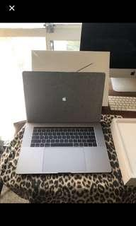 Apple macbook pro 15in 2018 256GB space grey great condition