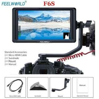 Feelworld F6S 5 Inch IPS Screen 1920x1080 4K Video Monitor HDMI for DSLR Cameras