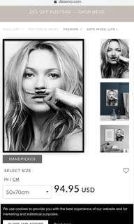 "Kate Moss ""life is a joke"" PRINT ONLY"