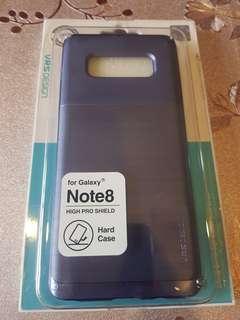 🚚 note8紫色全新防摔保護殼髮絲紋質感很有品味