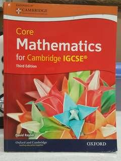 IGCSE MATHEMATICS for Cambridge IGCSE,  3rd edition by David Rayner.  BRAND NEW