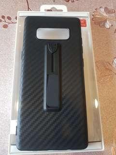 🚚 note8碳纖殼質感特優背蓋隱藏式指環立架