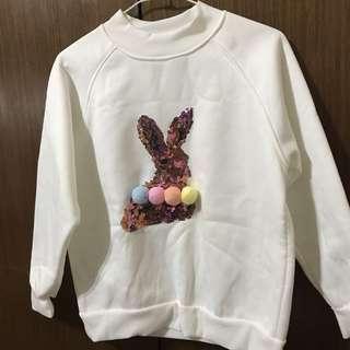 🚚 兔子毛球白色大學踢🐰