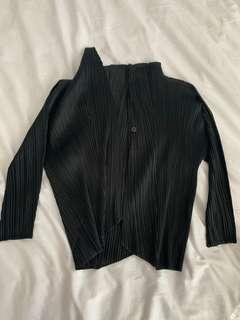 🚚 Issey Miyake Black open front cardigan from Pleats Please - with tag