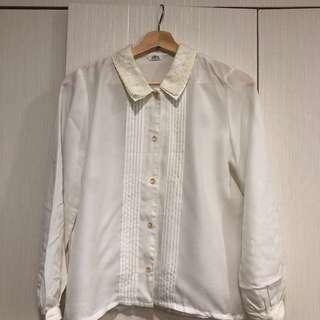 🚚 古著 白襯衫