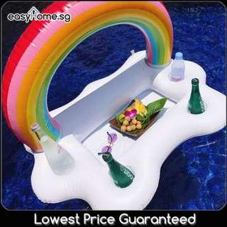 🚚 Rainbow Ice Tray / Swimming Pool Beach Party Drink Food Holder