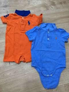 🚚 Authentic Polo rompers
