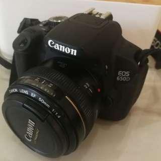 Canon EOS-650D DSLR Full Camera with 50mm F1.4 Len