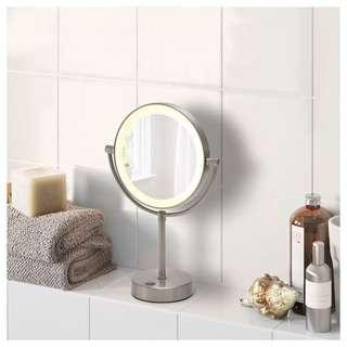 Ikea Vanity Mirror with Integrated Lighting