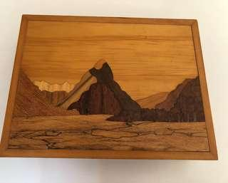 Handcrafted wooden jewellery box by New Zealand artists