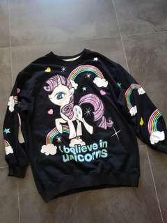 🚚 My little pony black pull over