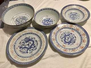 Set of Chinese bowls & plates