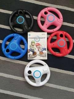 Wii Mario kart game with wheel