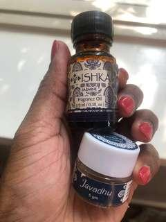 FREE - ISHKA Jasmine essential oil + Javadhu powder