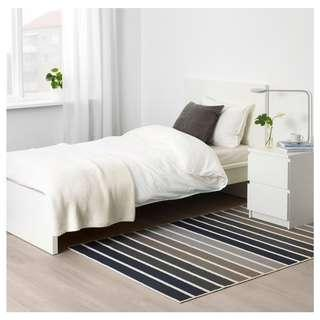 Ikea Rug, low pile, grey, multicolour, 120x180 cm