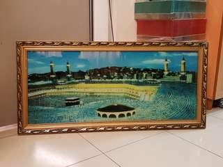 Makkah Picture Frame with led running light