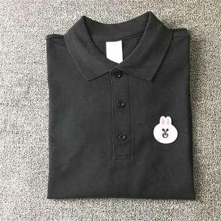 🚚 INSTOCK Black Line Cony Polo Top